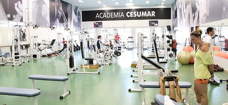 Academia Cesumar atende alunos e funcion�rios